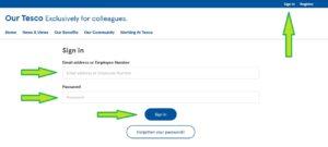 our tesco employee login